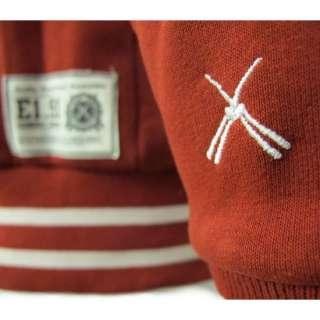 CRIMINAL DAMAGE Burgundy Varsity Club Hoody/Jacket S XL