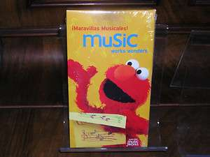 Sesame Street Music Works Wonders Maravillas Musicales VHS NEW (10
