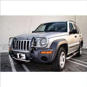 02 07 Jeep Liberty Black Horse Stainless Steel Grill Guard Automotive