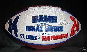 Isaac Bruce Game Presentation Ball St. Louis Rams 1/1