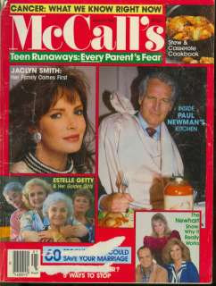 1988 McCalls Magazine: Paul Newman/Jaclyn Smith