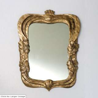 Art Nouveau Resting Callas Accent Wall Mirror ~ Gold