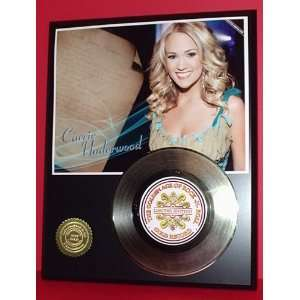 Carrie Underwood 24kt Gold Record LTD Edition Display ***FREE PRIORITY