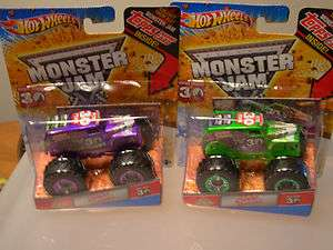 Hot Wheels Monster Jam Grave Digger Spectra Purple and Green 30th