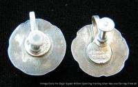 Vintage Early Mexican Sterling Silver Earrings Signed William
