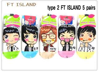 KOREAN K POP STAR CHARACTER low ankle socks bigbang/super junior/snsd
