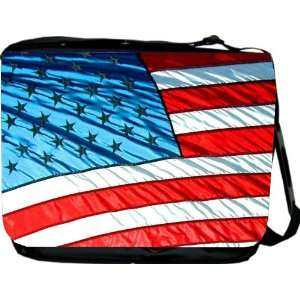 Rikki KnightTM American Flag Patriotic Design Messenger Bag   Book