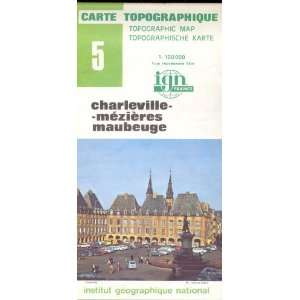 Map 5 France Charleville, Mezieres, Maubeuge Carte