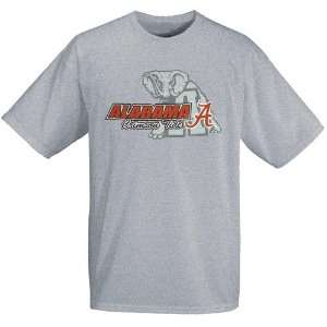 Alabama Crimson Tide Ash Mascot Backdrop T shirt