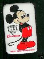 old Cervantes Collector Item TIES pin MICKEY MOUSE