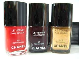 ڿڰۣ✿ Chanel Nail Colour 1 ROUGE NOIR 1 GOLD LAME 1COROMANDEL set