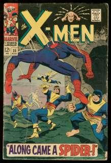 MEN #35 1967 MARVEL COMICS SPIDER MAN CROSSOVER ROTH