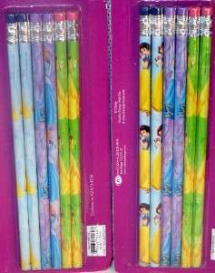 12 Disney Princess Pencils Party Favors Snow White Cinderella Belle