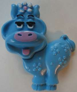 Avon 1973 Fragrance Perfume Glace Pin Blue Moo Cow