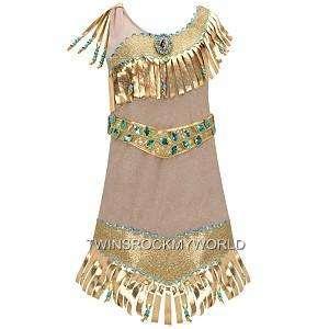 ... POCAHONTAS INDIAN PRINCESS COSTUME GIRLS 5/6 NWT ...  sc 1 st  PopScreen & Pocahontas Indian Princess Costume Size XXS 2 3