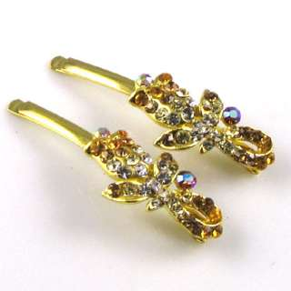 ADDL Item  2 Rhinestone crystal flower hair side clip