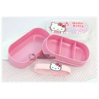 Sanrio Hello Kitty Lunch Box/ Container /Case  Ribbons