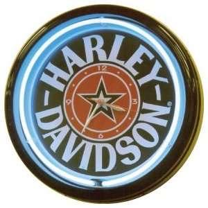 Shipping   20 Inch Harley Davidson Fat Boy Neon Clock