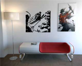 STICKER DECALS ART MURAL SPORT MOUNTAINS SKI PICTURE JUMP O608