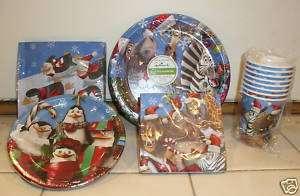 HALLMARK PARTY SET Plates Christmas Supplies Kids Children NEW