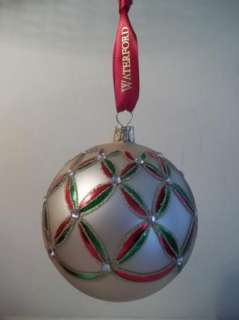HOLIDAY HEIRLOOMS WEDGE GOLD GLASS Ball CHRISTMAS ORNAMENT MIB