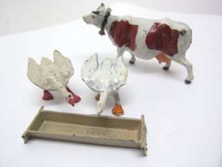 Lead Toy Vintage 4 pc FARM Animal Cow Geese ENGLAND