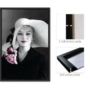 Framed Marilyn Monroe Pink Flower Hat Poster Fr4833