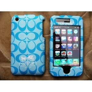 Sky Blue Plastic Front & Back Case Cover for iPhone 3g 3gs