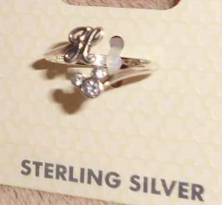 DISNEY Solid Sterling SILVER 925 Crystal MICKEY MOUSE Gemstone H