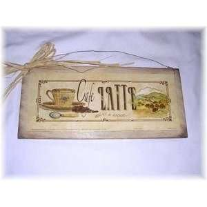Latte Coffee Sign Relax and Enjoy Kitchen Decor Art