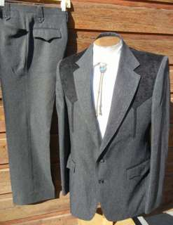 Mens CIRCLE S Western Suit 40R 30x30   with a Fancy Felt Cowboy Yoke