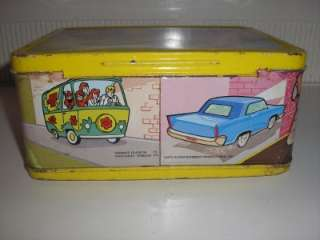 METAL LUNCH BOX   SCOOBY DOO 1973 WITH THERMOS HANNA BARBERA