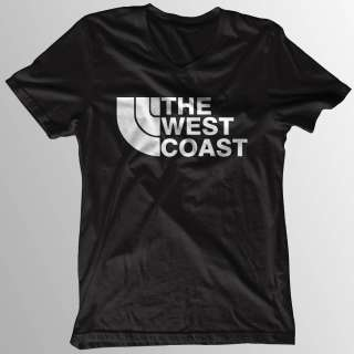 NEW HOT WEST COAST T Shirt Black White Size S XL