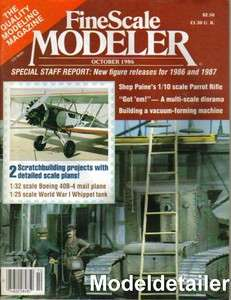Scale Modeler Oct.86 Boeing 40B 4 Whippet Tank Shep Paine Parrot Rifle