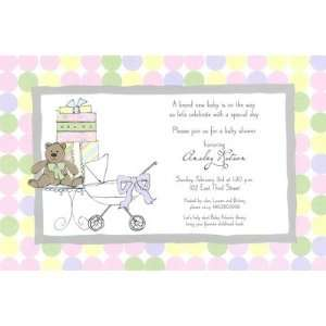Baby Shower Scene, Custom Personalized Baby Shower Invitation, by