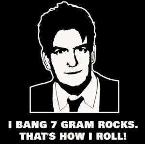 Bang 7 Gram Rocks T Shirt Charlie Sheen Roll Party