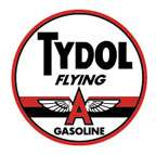 TYDOL GAS ROUND REPRODUCTION COLLECTIBLE METAL SIGN