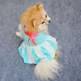 Lovely Dog Puppy Pet Apparel Cotton Dress  Size XS,S,M,L