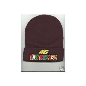 VALENTINO ROSSI The Doctor Beanie HAT SKI CAP Black NEW