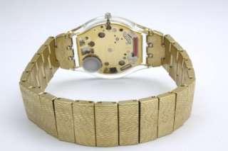 New Swatch Skin Warm Glow Gold Tone Women Dress Watch 35mm SFK355G