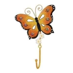 Monarch Butterfly Wall Decor Key Rack Metal Wall Hook