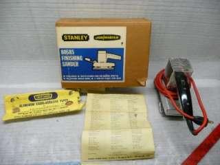 Stanley Finishing Sander model 80585 in box job master 1966 used metal