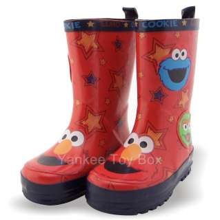 SESAME STREET ELMO OSCAR COOKIE TODDLER BOYS RAIN BOOTS