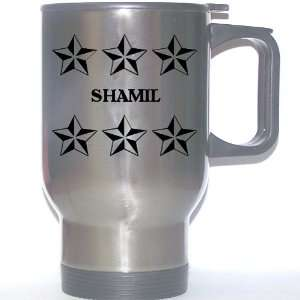 Personal Name Gift   SHAMIL Stainless Steel Mug (black