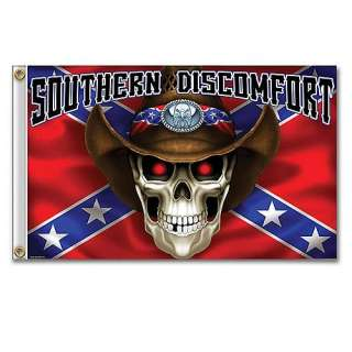 Confederate Rebel Cowboy Flag Southern Discomfort NEW