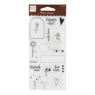 fiskars heidi grace clear stamps design tags and words p number of