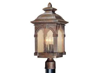 RUSTIC VINTAGE ESSEX OUTDOOR POST LIGHTING LIGHT NEW VAXCEL FIXTURES