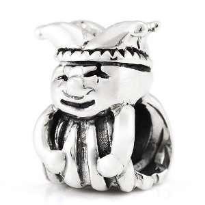 Sterling Silver Court Jester European Bead: Arts, Crafts & Sewing