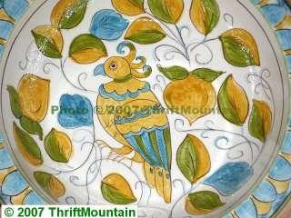 Pottery Barn Bird Cortona Serving Fruit Salad Bowl Huge