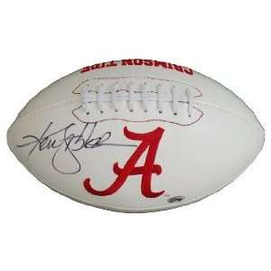 /Hand Signed Alabama Crimson Tide Logo Football